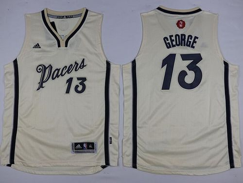 Pacers #13 Paul George Cream 2015-2016 Christmas Day Youth Stitched NBA Jersey
