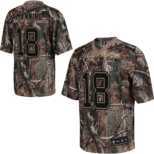 Colts #18 Peyton Manning Camouflage Stitched Realtree Collection Youth NFL Jersey