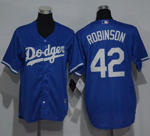 Dodgers #42 Jackie Robinson Blue Cool Base Stitched Youth MLB Jersey