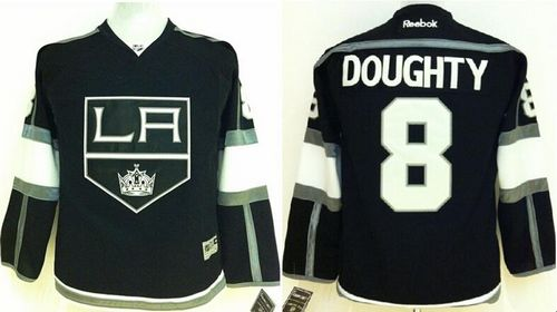 Kings #8 Drew Doughty Black Home Stitched Youth NHL Jersey