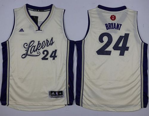 Lakers #24 Kobe Bryant White 2015-2016 Christmas Day Stitched Youth NBA Jersey
