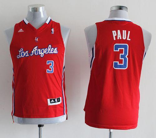 Clippers #3 Chris Paul Red Stitched Youth NBA Jersey