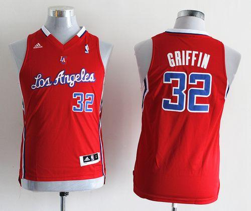 Clippers #32 Blake Griffin Red Stitched Youth NBA Jersey