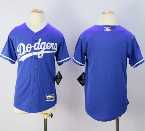 Dodgers Blank Blue Cool Base Stitched Youth MLB Jersey