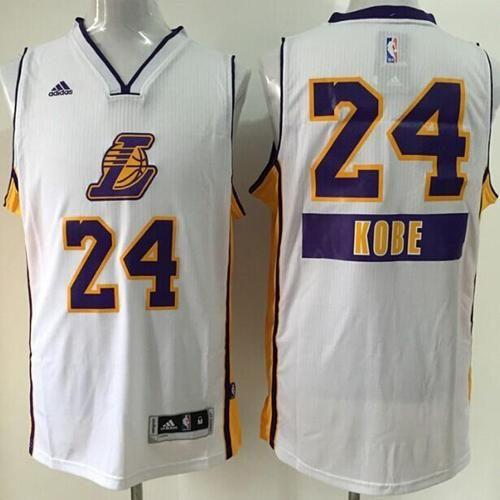 Lakers #24 Kobe Bryant White 2014-15 Christmas Day Stitched Youth NBA Jersey