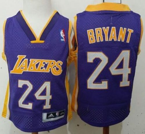 Toddler Lakers #24 Kobe Bryant Purple Stitched NBA Jersey