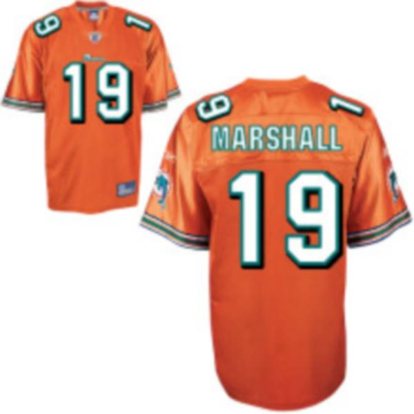 Dolphins #19 Brandon Marshall Orange Stitched Youth NFL Jersey