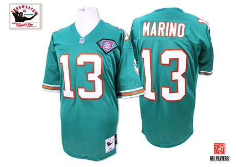 Mitchell And Ness Dolphins #13 Dan Marino Green Stitched Throwback Youth NFL Jersey