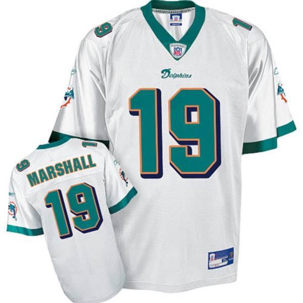 Dolphins #19 Brandon Marshall White Stitched Youth NFL Jersey