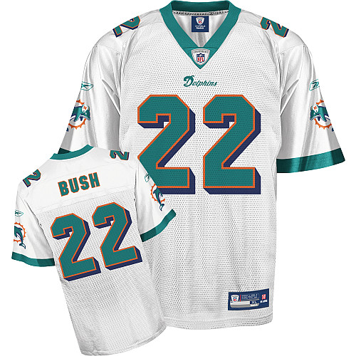 Dolphins #22 Reggie Bush White Stitched Youth NFL Jerseys