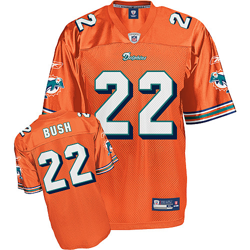 Dolphins #22 Reggie Bush Orange Stitched Youth NFL Jerseys