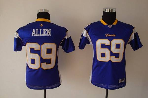 Vikings #69 Jared Allen Purple Stitched Youth NFL Jersey