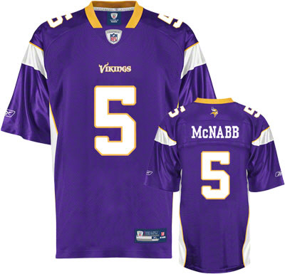 Vikings #5 Donovan Mcnabb Purple Stitched Youth NFL Jersey