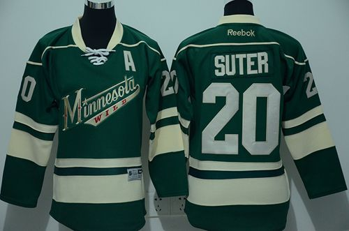 Wild #20 Ryan Suter Green Stitched Youth NHL Jersey
