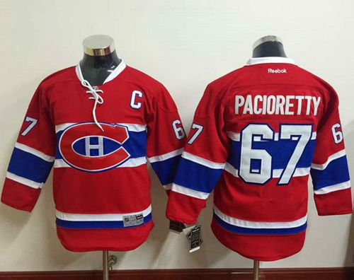 Canadiens #67 Max Pacioretty Red Stitched Youth NHL Jersey