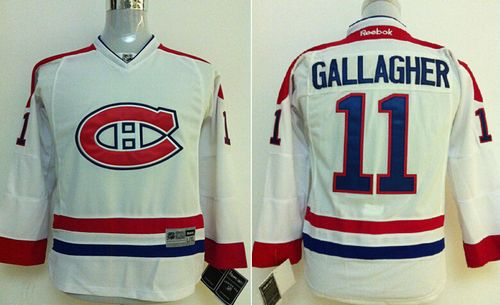 Canadiens #11 Brendan Gallagher White Stitched Youth NHL Jersey