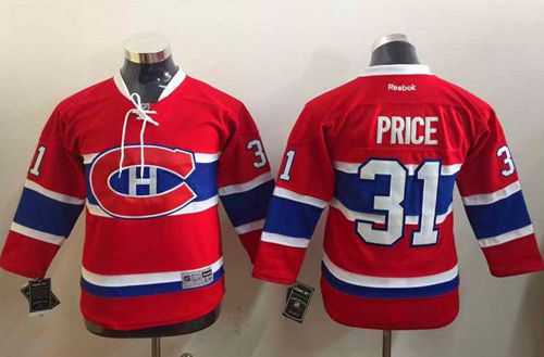 Canadiens #31 Carey Price Stitched CH Red Youth NHL Jersey