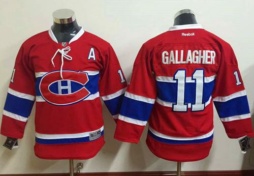Canadiens #11 Brendan Gallagher Red Stitched Youth NHL Jersey
