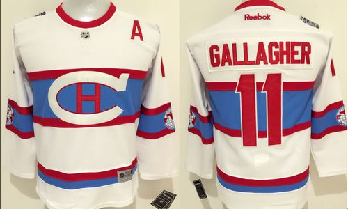 Canadiens #11 Brendan Gallagher White 2016 Winter Classic Stitched Youth NHL Jersey