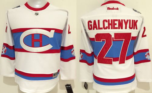 Canadiens #27 Alex Galchenyuk White 2016 Winter Classic Stitched Youth NHL Jersey