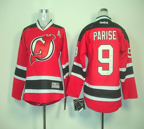 Devils #9 Zach Parise Red Home Stitched Youth NHL Jersey
