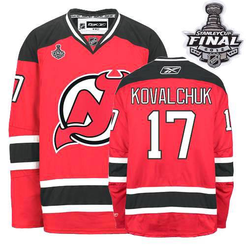 Devils #17 Ilya Kovalchuk Red Home 2012 Stanley Cup Stitched Youth NHL Jersey