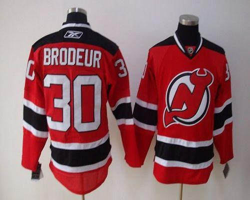 Devils #30 Martin Brodeur Red Home Stitched Youth NHL Jersey