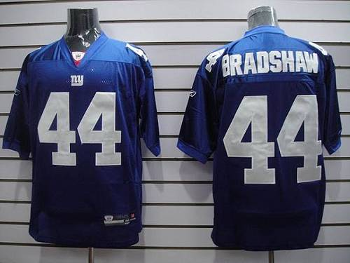 Giants #44 Ahmad Bradshaw Blue Stitched Youth NFL Jersey