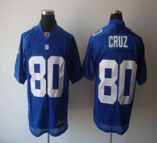 Giants #80 Victor Cruz Blue Stitched Youth NFL Jersey