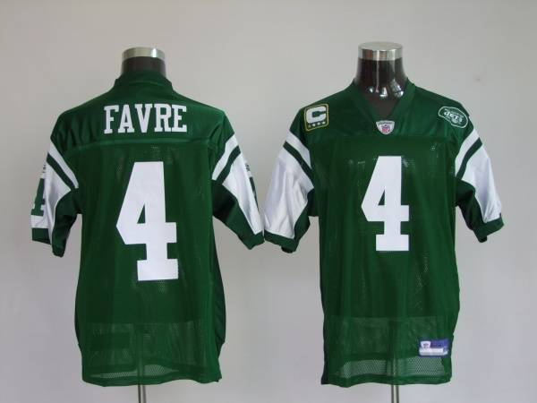 Jets #4 Brett Favre Green Stitched Youth NFL Jersey
