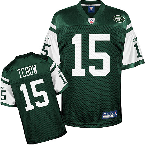 Jets #15 Tim Tebow Green Stitched Youth NFL Jersey