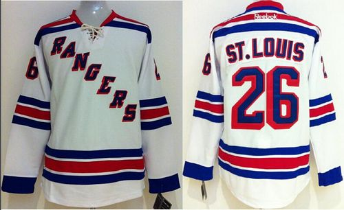 Rangers #26 Martin St.Louis White Stitched Youth NHL Jersey