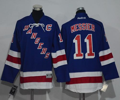 Rangers #11 Mark Messier Blue Home Stitched Youth NHL Jersey