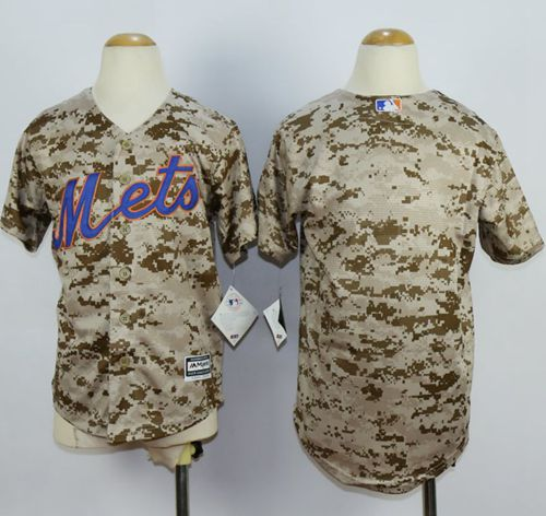 Mets Blank Camo Alternate Cool Base Stitched Youth MLB Jersey