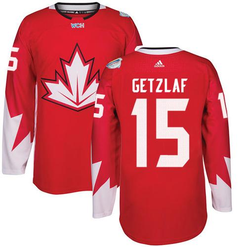 Team Canada #15 Ryan Getzlaf Red 2016 World Cup Stitched Youth NHL Jersey