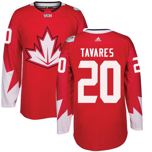 Team Canada #20 John Tavares Red 2016 World Cup Stitched Youth NHL Jersey