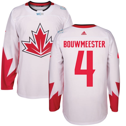 Team Canada #4 Jay Bouwmeester White 2016 World Cup Stitched Youth NHL Jersey