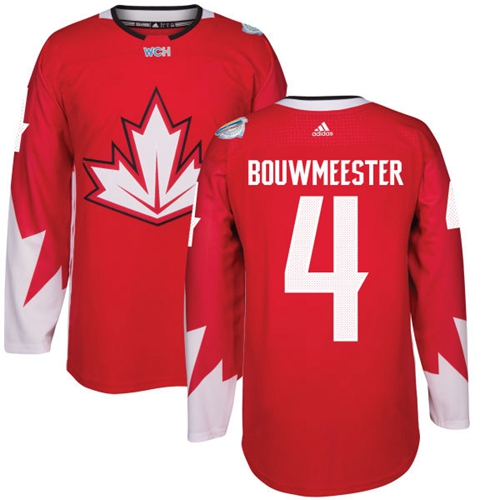 Team Canada #4 Jay Bouwmeester Red 2016 World Cup Stitched Youth NHL Jersey