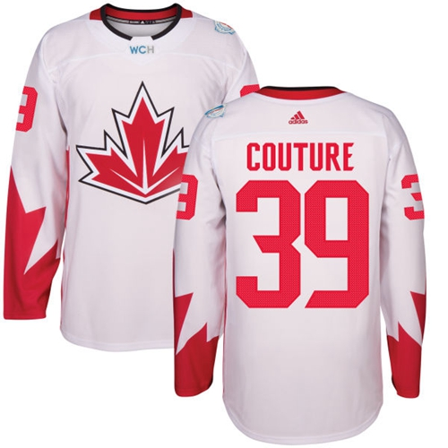 Team Canada #39 Logan Couture White 2016 World Cup Stitched Youth NHL Jersey