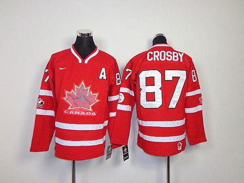 Team Canada #87 Sidney Crosby Red Stitched Youth NHL Jersey