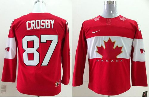 Team Canada 2014 Olympic #87 Sidney Crosby Red Stitched Youth NHL Jersey