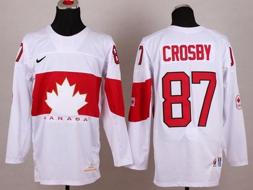 Team Canada 2014 Olympic #87 Sidney Crosby White Stitched Youth NHL Jersey