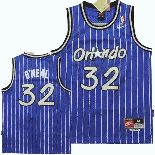 Magic #32 Shaquille O'Neal Blue Nike Throwback Stitched Youth NBA Jersey