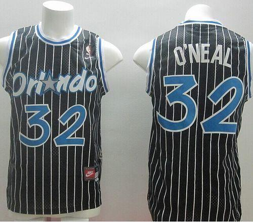 Magic #32 Shaquille O'Neal Black Nike Throwback Stitched Youth NBA Jersey