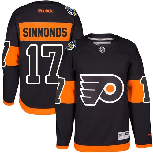 Flyers #17 Wayne Simmonds Black 2017 Stadium Series Stitched Youth NHL Jersey