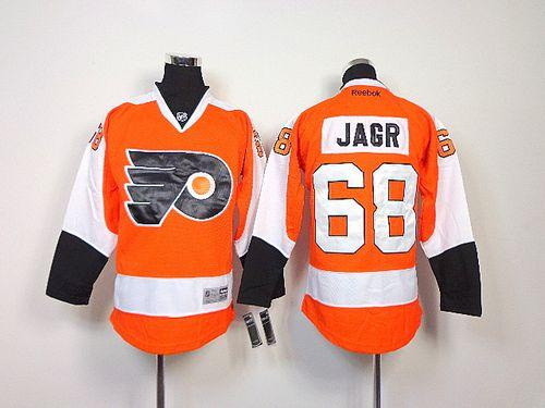 Flyers #68 Jaromir Jagr Orange Stitched Youth NHL Jersey