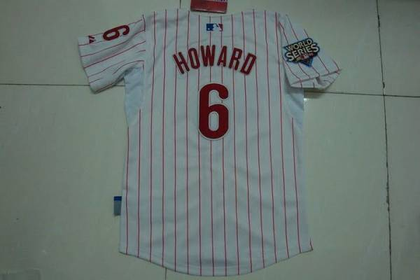 Phillies #6 Ryan Howard Stitched White Red Strip Youth MLB Jersey