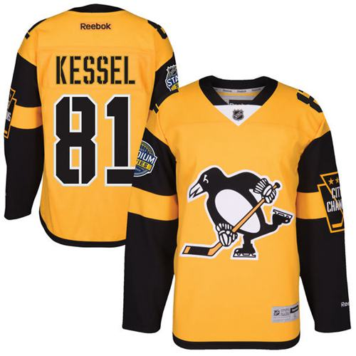 Penguins #81 Phil Kessel Gold 2017 Stadium Series Stitched Youth NHL Jersey