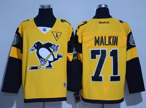 Penguins #71 Evgeni Malkin Gold 2017 Stadium Series Stitched Youth NHL Jersey