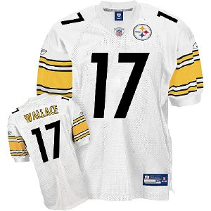 Steelers #17 Mike Wallace White Stitched Youth NFL Jersey